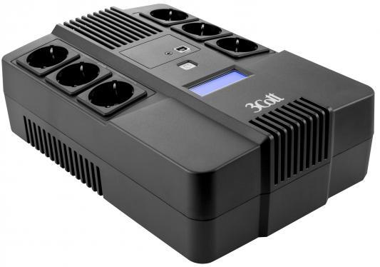 цена на ИБП 3Cott 650-CDL 650VA/390W
