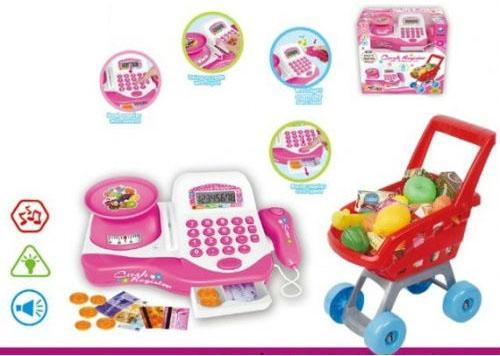 Игровой набор Shantou Gepai Супермаркет Радочка (свет, звук) 29 предметов игровой супермаркет звуковой с тележкой 17 предметов