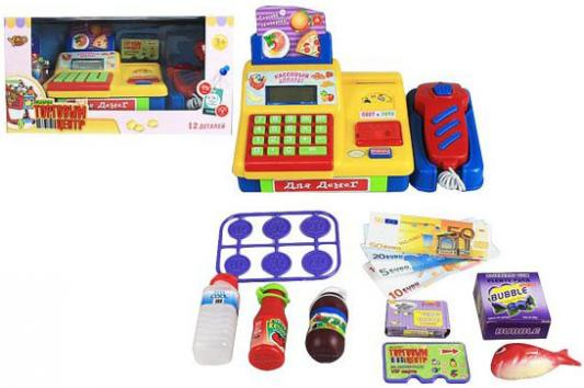 Игровой набор Shantou Gepai Торговый центр - Кассовый аппарат (свет, звук) 10 предметов shantou gepai игрушка пластм касса электронная продукты сканер shantou gepai