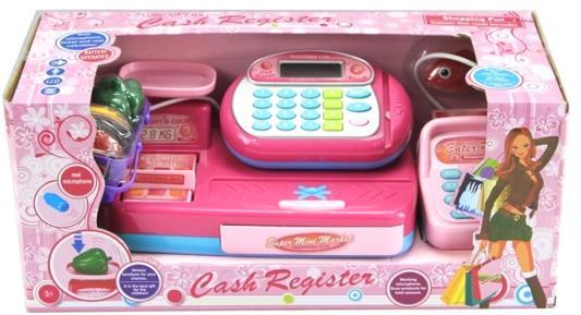 Игровой набор Shantou Gepai Кассовый аппарат со сканером и набором продуктов 14 предметов