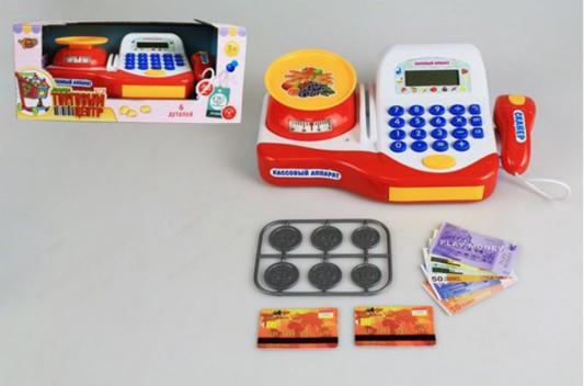 Игровой набор Shantou Gepai Торговый центр - Кассовый аппарат с аксессуарами свет, звук