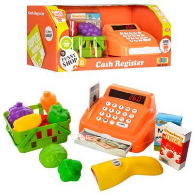 Игровой набор Shantou Gepai Касса с продуктами в корзинке свет, звук игровой набор shantou gepai касса с продуктами yh818 2 12 предметов