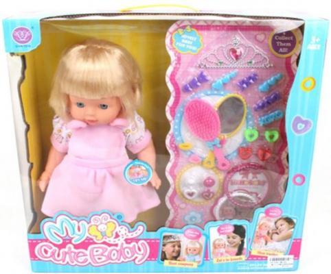 Кукла Shantou Gepai Карина с аксессуарами 40 см со звуком в ассортименте кукла shantou gepai лиза с аксессуарами 32 см в ассортименте