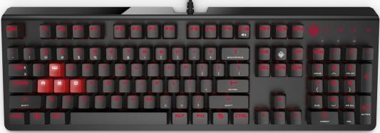 Клавиатура проводная HP 1MY13AA USB черный клавиатура hp omen 1100 keyboard 1my13aa