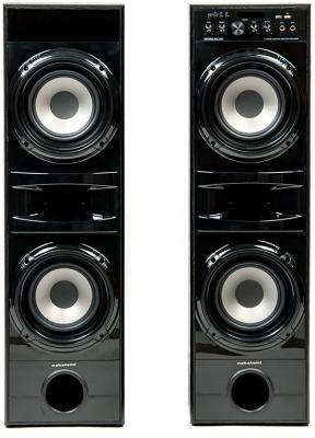 Акустическая система Nakatomi OS-71 черный 2x50W Bluetooth FM-Тюнер USB Караоке пульт ДУ колонка nakatomi gs 35