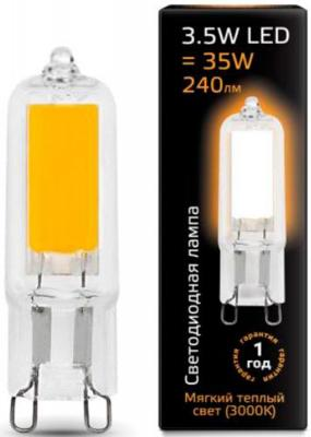 Лампа светодиодная G9 3.5W 3000K колба прозрачная 107809103 лампа светодиодная колба онлайт 388151 gu5 3 7w 3000k