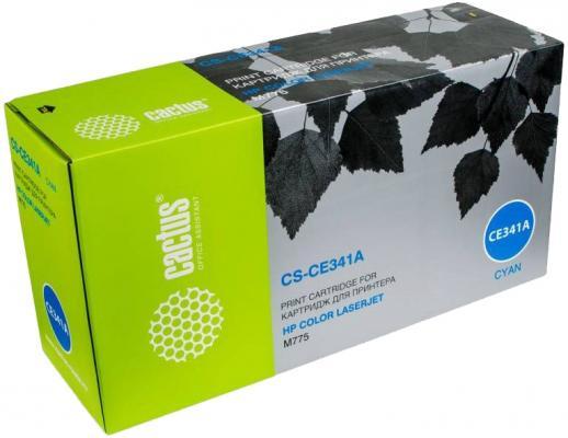 Картридж Cactus CS-CE341AV для HP CLJ M775 голубой 16000стр картридж cactus cs cf403x cf403x magenta для hp clj m252 252n 252dn 252dw m277n m277dw