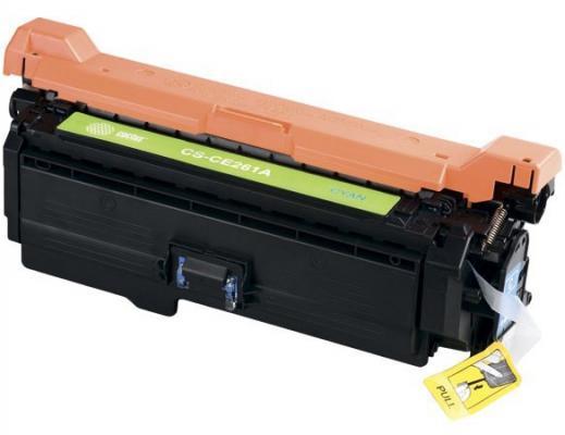 Картридж Cactus CS-CE261AV для HP LJ CP4025/CP4525/CM4540 голубой 11000стр картридж cactus cs ce260ar для hp lj cp4025 cp4525 cm4540 черный 8500стр