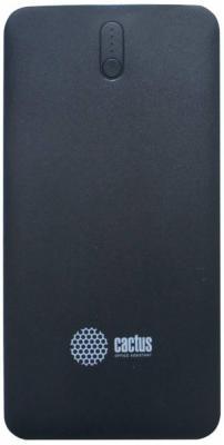 Портативное зарядное устройство Cactus CS-PBAS283 10000мАч черный серый портативное зарядное устройство ritmix rpb 10001l 10000мач белый