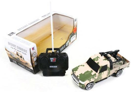 Машинка на радиоуправлении Shantou Gepai Desert Chariot - Военный джип пластик от 3 лет камуфляж 1:18, 4 канала военный автомобиль на радиоуправлении tongde в72398 пластик от 3 лет зелёный