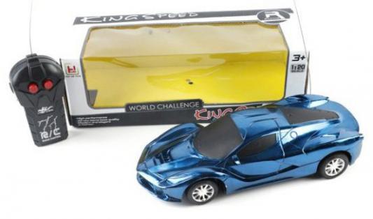 Машинка на радиоуправлении Shantou Gepai 631824 пластик от 3 лет сине-черный машинка на радиоуправлении shantou gepai crazy спорткар белый от 3 лет пластик 1 20 2 канала 3d свет 635556