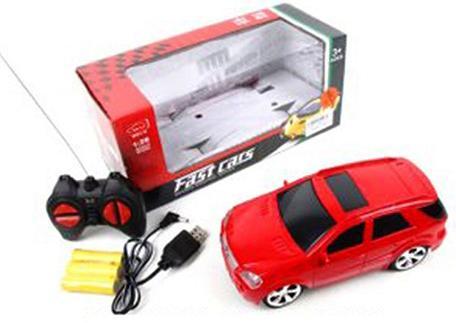Машинка на радиоуправлении Shantou Gepai 637166 пластик, металл от 3 лет красный