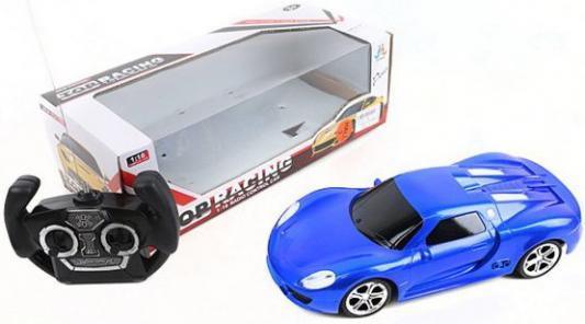 Машинка на радиоуправлении Shantou Gepai Top Racing пластик, металл от 3 лет синий