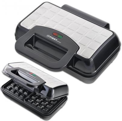 Вафельница First FA-5305-4 чёрный серебристый вафельница first fa 5305 3 black