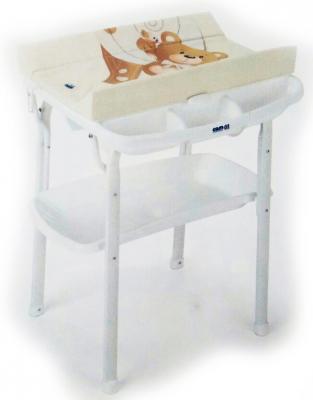 Купить Стол пеленальный с ванночкой Cam Aqua (цвет 219), бежевый, металл/ пластик, Столы для пеленания