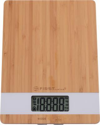 все цены на Весы кухонные First FA-6410 белый коричневый онлайн