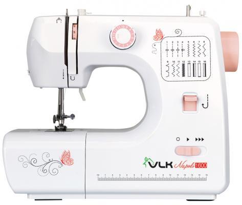 Швейная машина VLK Napoli 1600 белый швейная машина vlk napoli 2100 белый