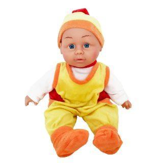 """Пупс Shantou Gepai """"Грибочек"""" 30 см со звуком в желтом костюме"""