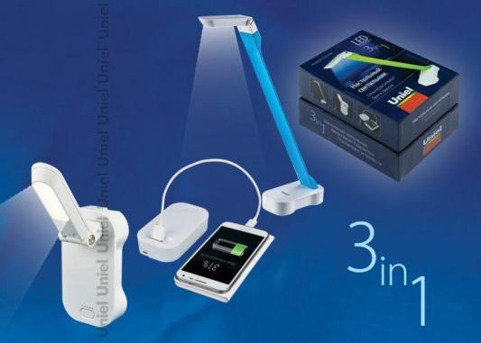 Настольная лампа (UL-00000795) Uniel TLD-530 Blue-White/LED/200Lm/6400K/PB tdl 7120 5w 200lm 10 led warm white ir sensing light white 6v