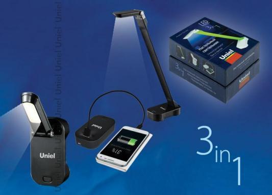 Настольная лампа (UL-00000796) Uniel TLD-530 Black/LED/200Lm/6400K/PB t20 3w 8000k 200lm 20x5050 led white light bulbs for car pair 12 14v