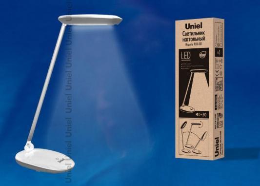 Настольная лампа (UL-00000807) Uniel TLD-531 Grey-White/LED/400Lm/4500K/Dimmer лампа настольная светодиодная tld 550 световой поток 260lm цветность 4500k dimmer коричневый