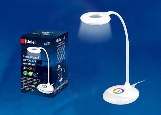 Настольная лампа (UL-00001496) Uniel TLD-535 White/LED/250Lm/5500K/Dimmer singfire sf 647g 2 led 5v usb zooming white green 3 mode 250lm hunting headlamp grey 2 x 18650