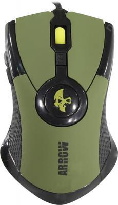 Мышь проводная Jet.A Arrow JA-GH35 зелёный USB мышь проводная jet a arrow ja gh35 чёрный
