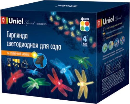 Гирлянда на солнечных батареях 400см разноцветная (05302) Uniel Special USL-S-123/PT4000 Dragonflies