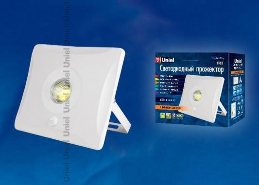 Фото - Прожектор светодиодный (UL-00000392) Uniel 30W 6000K ULF-F31-30W/DW SENSOR IP65 100-265В White 4pcs lot dimmable 2x15w 30w double led cob ceiling downlight 2700k 6000k warm white white cool white led downlights ac110 ac240v