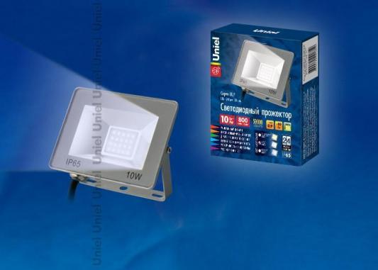 Прожектор светодиодный (UL-00001839) Uniel 10W 6000K ULF-F15-10W/DW IP65 185-240В Silver