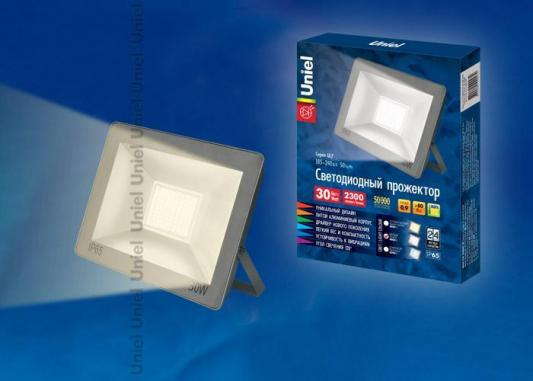 Прожектор светодиодный (UL-00001850) Uniel 30W 3000K ULF-F15-30W/WW IP65 185-240В Silver