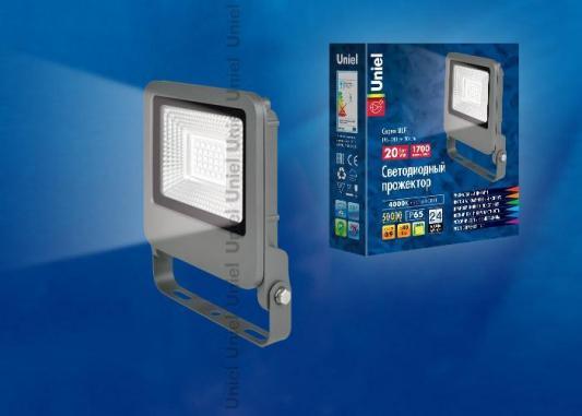 Прожектор светодиодный (UL-00002065) Uniel 20W 4000K ULF-F17-20W/NW бандаж ecosapiens es cabk 5 на колено медицинский согревающий с шерстью верблюда размер xl 46 50 серый