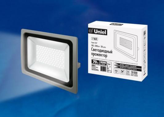 Прожектор светодиодный (UL-00002017) Uniel 70W 4000K ULF-F16-70W/NW IP65 185-240В Silver