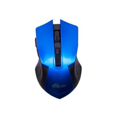 все цены на Мышь беспроводная Ritmix RMW-605 синий чёрный USB онлайн
