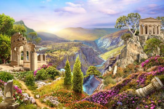 Пазл Hatber Старый город в природе 500ПЗ2_17101 500 элементов пазл 500 элементов hatber мулен руж 500пз2 08020