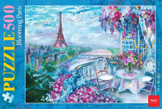 Пазл Hatber Цветущий Париж 500ПЗ2_16970 500 элементов пазл hatber райский сад 340x460mm 500пз2 16969