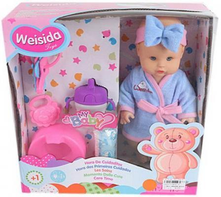 купить Кукла Shantou Gepai My Baby 30 см со звуком пьющая писающая по цене 1000 рублей