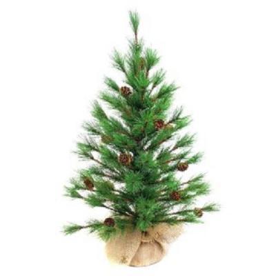 Ель Новогодняя сказка Декоративная с шишками зеленый 60 см