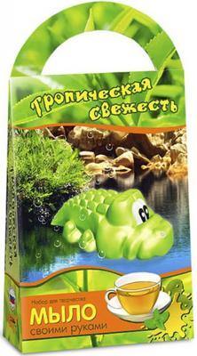 Набор для изготовления мыла Аромафабрика Тропическая свежесть - Зеленый чай от 3 лет С0206 клубничный пищевой гелевый краситель дешево