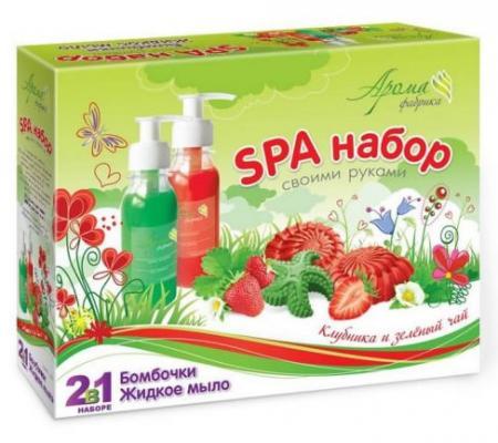 Набор для творчества Аромафабрика Бомбочки для ванн и Жидкое мыло Клубника и Зеленый чай от 8 лет