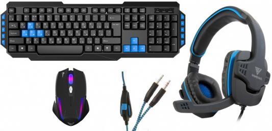 Комбо набор GAMDIAS GM-GKS100 USB черный мышь/клавиатура/наушники цена