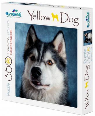 Пазл ОРИГАМИ Yellow Dog - Хаски 360 элементов пазл оригами арт терапия кошка 360 элементов