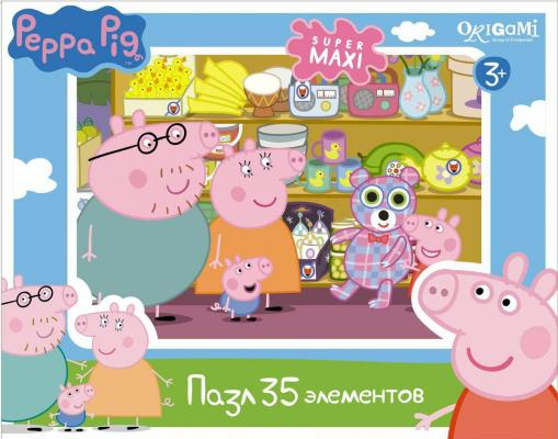 Пазл ОРИГАМИ Peppa Pig 35 элементов origami пазл макси peppa pig магазин фруктов 35 элементов