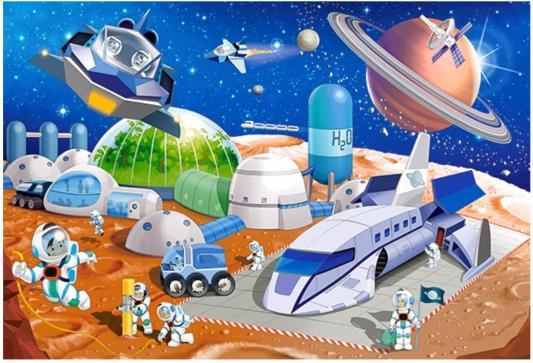 Пазл Кастор Космическая станция 40 элементов пазл 55 элементов кастор времена года