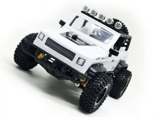Машинка на радиоуправлении Пламенный мотор Джип Сафари пластик от 3 лет белый машинка пламенный мотор внедорожник 87589