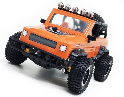 Машинка на радиоуправлении Пламенный мотор Джип Сафари пластик, металл  5 лет оранжевый