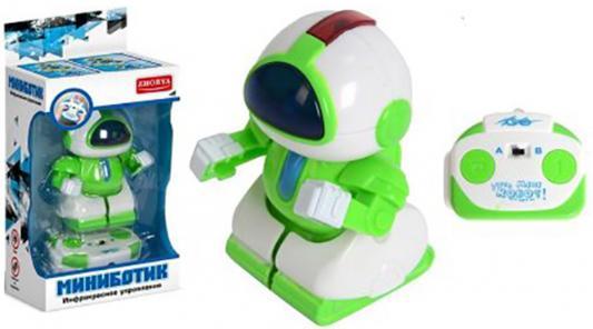 Робот радиоуправляемый Zhorya Миниботик светящийся двигающийся на радиоуправлении ZYB-B1561-2 игрушка zhorya музыкальный саксофон звук 20 2 8 2 12 5см