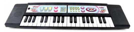 Синтезатор Shantou Gepai 37 клавиш, 2 режима работы, черный