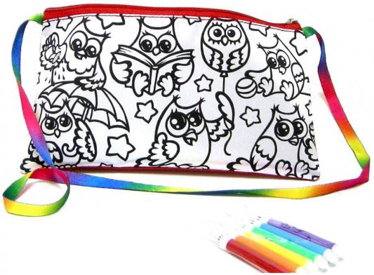 Набор для творчества ДАНКО-ТОЙС My Color Clutch клатч-пенал Совы -раскраска фломастерами от 5 лет