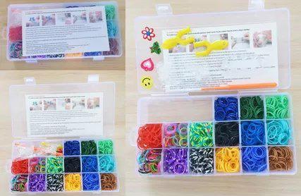 Набор для творчества Shantou Gepai Плетение браслетов, с подвесками 942485 от 6 лет подарок девочке на 6 лет